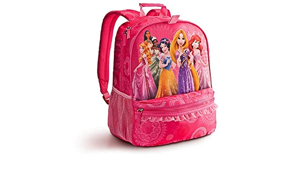 Disney Store Multi Princess Backpack Rapunzel Ariel Aurora Belle   Amazon.in  Bags d4bc418ed1727