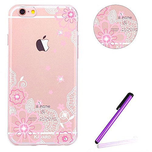 iPhone 6S Plus Hülle Glitzer,iPhone 6S Plus Hülle Silikon,Transparent Crystal Clear TPU Case Hülle Klare Ultradünne Silikon Gel Schutzhülle Durchsichtig Rückschale Etui für iPhone 6 6S Plus,Clear Hüll S TPU 6