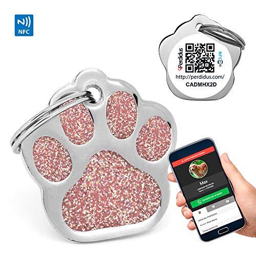 PERDIDUS Placa Identificativa Perros Shine QR NFC