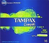 Tampax Compak, Tamponi con Applicatore, Maxi, Super - 16 Pezzi immagine