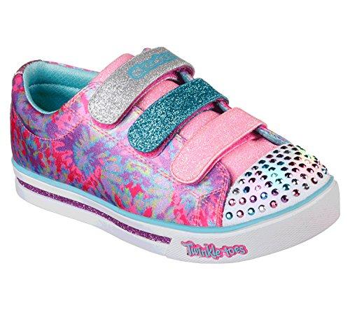Skechers Mädchen Sparkle Glitz - Pop Party Sneaker Mehrfarbig (Hot Pink/Multicolour) 30 EU