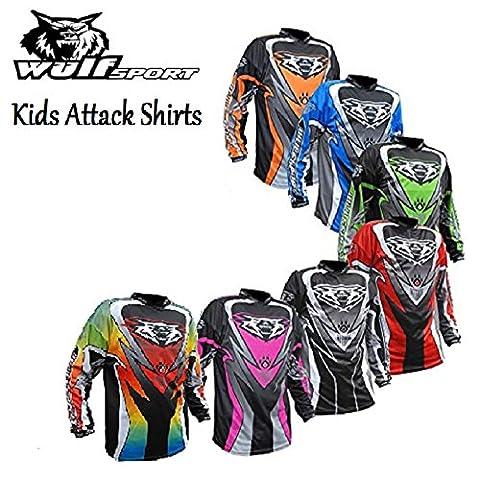 Wulf Attack Wulfsport Cub Maillot pour Moto Enfants Junior Motocross ATV Quad MX Pit Sport