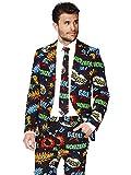 Opposuits Faschingskostüme für Herren - Mit Jackett, Hose und Krawatte mit Festlichen Print