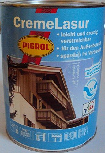 375 ml Pigrol Cremelasur (tropft nicht, gelartig) Holzschutzlasur / Compactlasur vom Fachhandel für jedes Holz im Aussbereich / mit UV-Schutz u. lichtechter Pigmente (buche 1543)