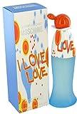 Moschino Damen Billig & Chic I Love Love 100ml EDT Spray mit Geschenk Tüte