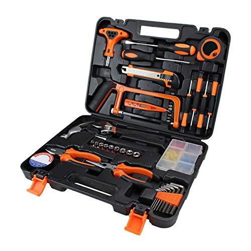 Elviray 82 Stücke Kombination Werkzeug Set Schraubendreher Maßband Universalmesser Seitenschneider Teststift Auto Reparatur Handwerkzeuge