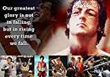 Rocky Balboa Poster # 53 – Motivation – – Hard You Hit Zitat – A3 Poster – Kunstdruck – Bild