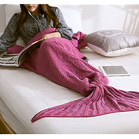 Sirena coda coperta trapunta, morbida e calda,