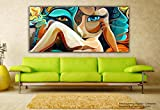 #10: Tamatina Canvas Paintings - Between the Eyes - Modern Art Paintings - Paintings for Home Décor - Paintings for Drawing Room - Wall Paintings for Bedroom - Paintings for Living Room - Canvas Paintings for Wall - Large Size Canvas Paintings - Large Size - 42 Inches x 24 inches