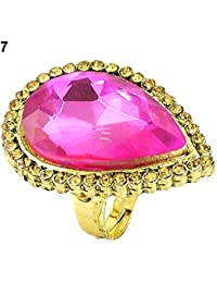 Florishkart Pink Color Simulated Stone Gold Plated Rings