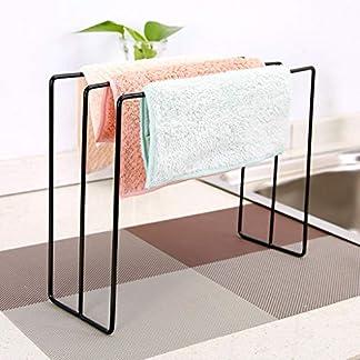 Riser Organizador de Escritorio Monitor de Escritorio Soporte de Toalla Soporte de Soporte Vertical Soporte de pie con Estructura de Acero Fuerte (Color : Negro)