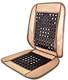 FurnishMyAuto Mesh Bamboo Car Bead Chocolate Button Seat Cushion Back Support (Brown)
