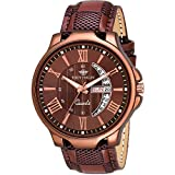 Eddy Hager Brown Day & Date Men's Watch EH-153-BR