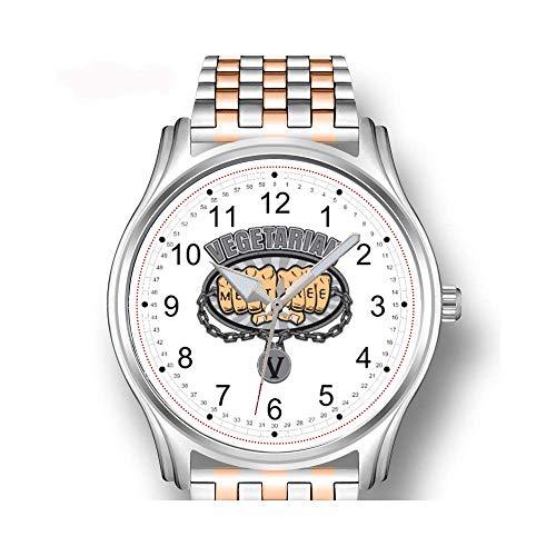Herrenuhren Roségold Edelstahl Sport Business Watch Männliche Uhr Variierte Pastell Creme Fliesen Muster Armbanduhr -