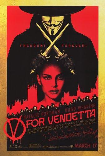 V de Vendetta Póster de película 27 x 40 - B 69 cm x 102 cm en Natalie Portman...