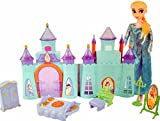 #4: Halo Nation® Frozen Castle Doll House with Elsa Doll - Beautiful Palace for Kids (Blue)