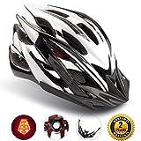 Shinmax Specializzata del Casco Bici con Luce Sicurezza, Sport Regolabile in Bicicletta Casco della Bici Caschi Bicicletta per Strada Bike Uomini Donne Età Gioventù Racing Protezione Sicurezza