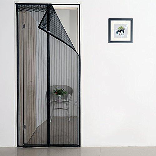 Jlpcp grande zanzariera magnetica nero zanzariera magnetica super fine mesh volare cortina consente di aria fresca impedendo agli insetti di entrare-a 180x240cm(71x94inch)