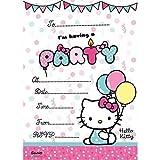 Hello Kitty 20 party Invitations with envelopes