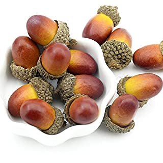 Wady 50pcs Artificial Lifelike Acorn Decor Fake Fruit Home Party Festival Decoration Props