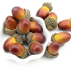 Idea Regalo - 50 ghiande artificiali decorative, finta frutta, per la casa, feste, eventi, Wady