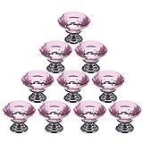 valink 10pcs 30 mm Kristall Glas Schublade Schrank Schränke Pull Griff Knöpfe mit Schrauben (Pink) – 30 * 30 mm …