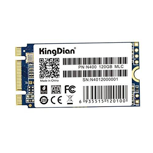kingdian M.2 NGFF 22 * * * * * * * * 42 mm M.2 2242 240 Go Disque Solid State Drive pour ordinateur de bureau PC et MacPro (22 * 42 mm 240 Go) N400 120GB