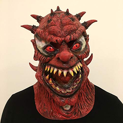 YaPin Halloween Maske Horror Scary Red Ghost Headroom Geheime Zimmer Geisterhaus Teufel Lustige Party Performance Requisiten