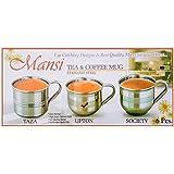 PERFECT SHOPO LIPTON Single Wall Stainless Steel Tea & Coffee Cups ,Set Of 6, 100 ML