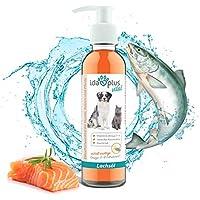 Ida Plus - Premium Lachsöl in Lebensmittelqualität für Tiere - 200 ml Pumpflasche - Hunde und Katzen - Omega -3 & 6 Fischöl - Made in Germany - Vitamin D, A und E - Barf