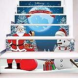 Treppenaufkleber Weihnachten Verkleiden Sich Treppen Santa Claus Mit Schneemann Treppen Dekorative Wandaufkleber
