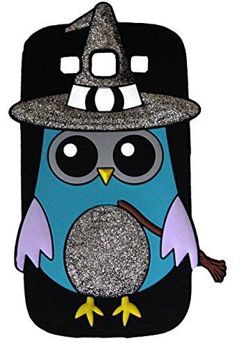 SKS Distribution ® schwarz Hexe Assistent funkeln OWL Eule Silikonhülle für das Samsung Galaxy S3 SIII I9300