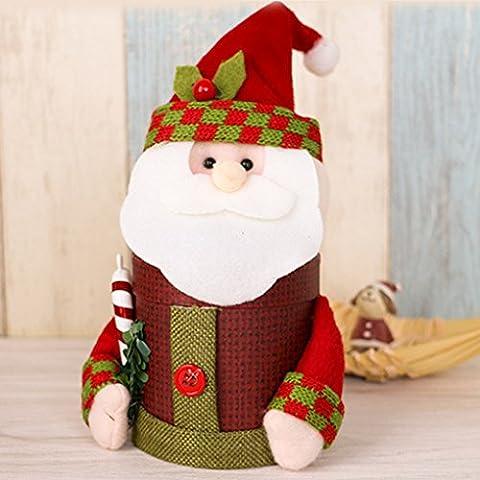 QHGstore Navidad cajas de regalo caja del caramelo de los bolsos de la Christma decoración festiva de contenedores anciano