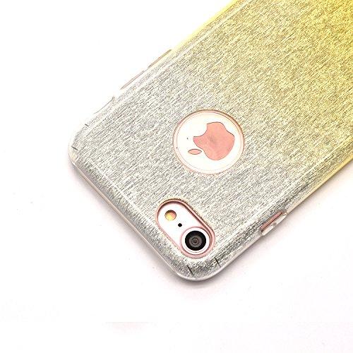 Sunroyal iPhone 7 Bling Diamant Kristall Crystal Hülle Transparent Durchsichtig Bumper Rahmen TPU Weich Bling Case / Hülle / Tasche Etui Schutzhülle für iPhone 7 (4.7 Zoll) Strass Handytasche Sparklin Pattern 16