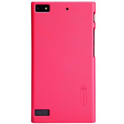Heartly Nillkin Frosted Shield Hard Bumper Back Case Cover For Blackberry Z3 With Free Nillkin Screen Guard - Red