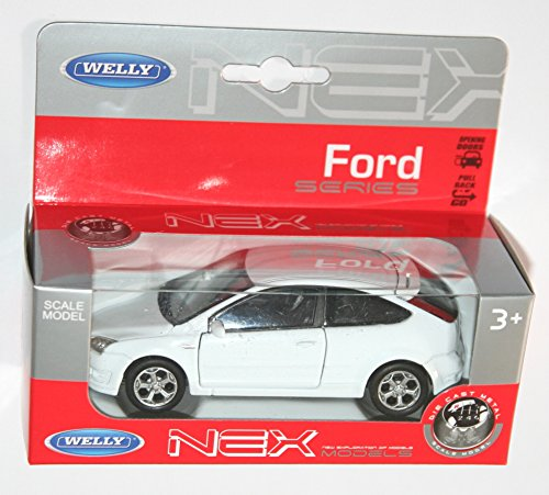welly-ford-focus-white-diecast-model-scale-139