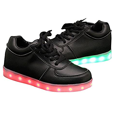 Womens Trainers Slip Resistant Autumn Fashion Flat Charging Black 4 UK Shoes