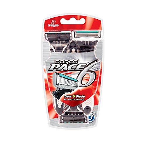Dorco Pace 6-Klingen-Einwegrasierer, 6 Stück