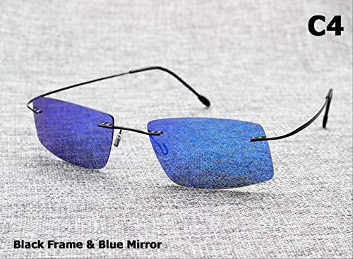 MJDL Polarisierte fahren männer sonnenbrille marke design titanium speicher rahmen sonnenbrille c4 schwarz blau