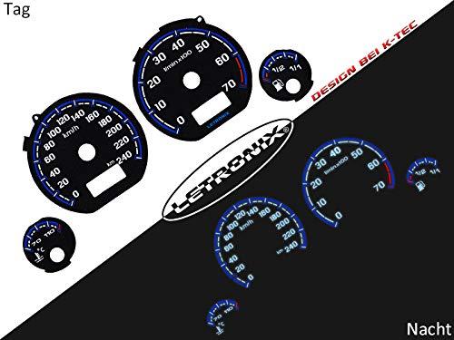 LETRONIX Plasma Tacho Tachoscheiben für Auto Golf 3 Vento 0-240Km/h 7000U/Min