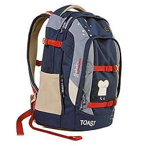satch Pack Blue Toast, ergonomischer Schulrucksack, 30 Liter, Organisationstalent, Blau