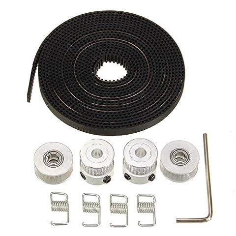 Alamor GT2 20 Zähne Aluminium Timing Scheibe 2,5 m 2GT Gürtel für 3D Printer RepRap (Scheibe Gürtel)