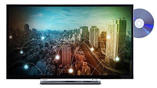 fernseher mit integriertem dvd Toshiba 24D3763DA 61 cm (24 Zoll) Fernseher (HD ready, Triple Tuner, Smart TV, DVD Player)