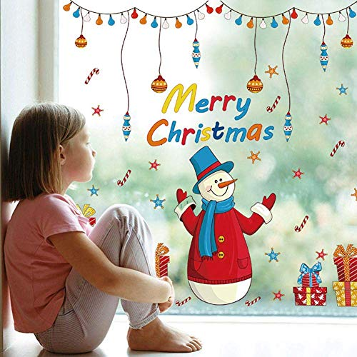 tmas Window Clings, Christmas Decal Stickers Decorations Winter Wonderland Xmas Party Stickers Decal Ornament (1 Sheets) Wonderland ()