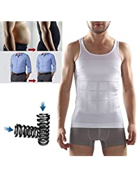 Frackkon Slimming Tummy Tucker Slim & Lift Body Shaper Vest/Men's Undershirt Vest To Look Slim Instantly Size...