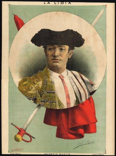 antico-print-bullfighting-tauromachia-valentin-martin-pl-25-la-lidia-1885