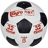 Gyronax Rubber Football (Black&White) Multi-Colour, Size 5N0