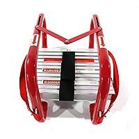 Portable Fire Ladder Emergency Escape Ladder 15 Foot with Wide Steps V Center Support