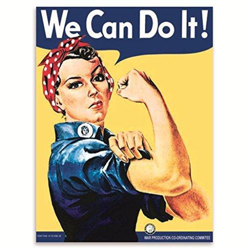 We can do it! WW2 SEGUNDA GUERRA MUNDIAL Land Chicas Póster, reclutam