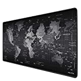 JIALONG Tapis de Souris Gaming XXL Grand sous Main Bureau Tapis Souris Gamer 900x400 (Map Monde)